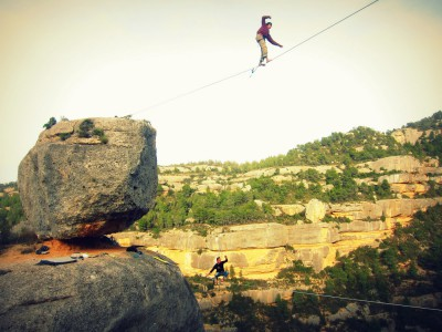 Slackline-Highline in Catalunya, Catliners, slacklife