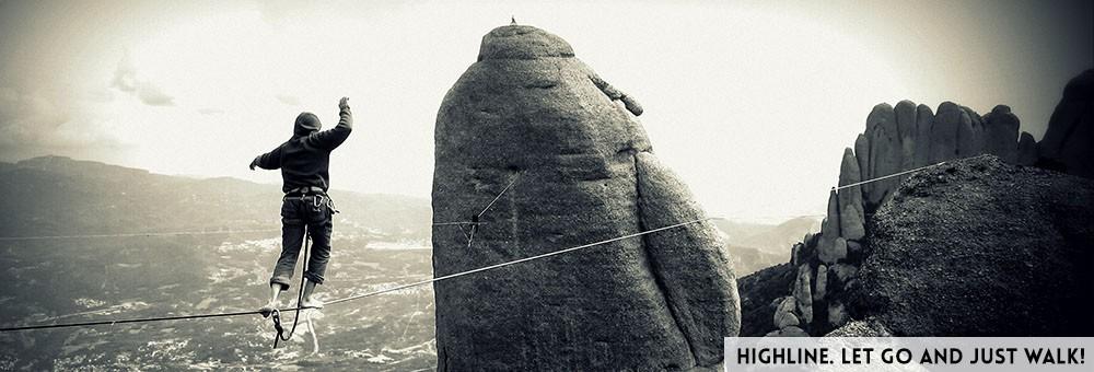 Balansa slackline – highline at Montserrat