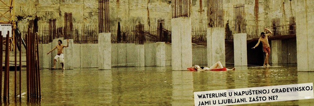 Balansa slackline – urban waterline