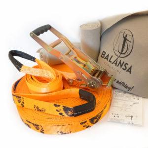 Balansa-slackline-Next_Step-50m-3,5cm-orange