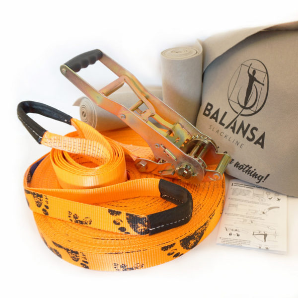 Balansa-slackline-Next_Step-50m-3,5cm-orange