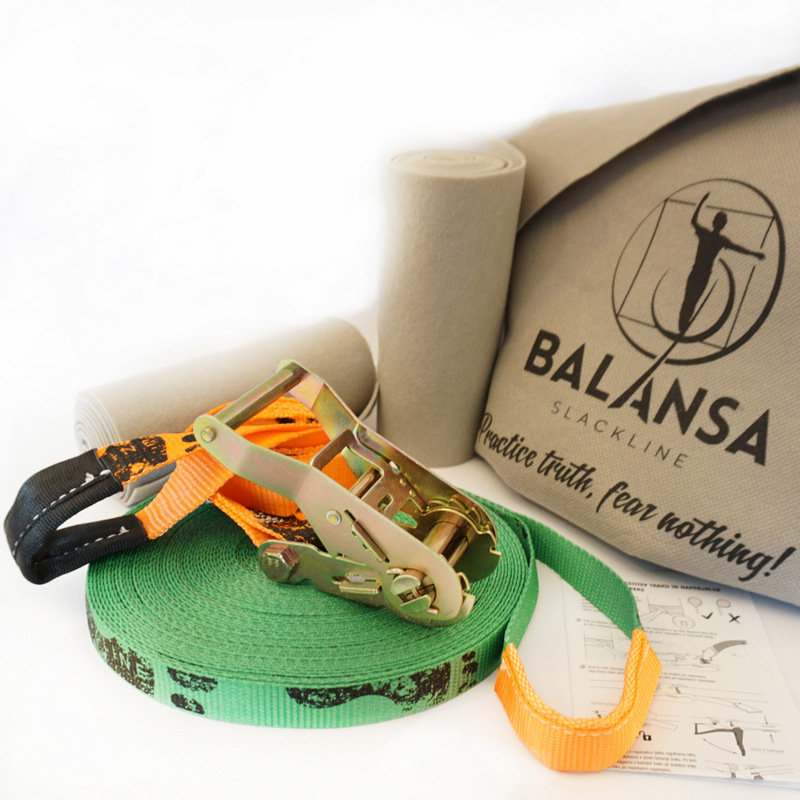 Balansa-slackline-Ultra_Light-23m-2,5cm-green